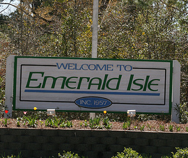 Emerald Isle sign